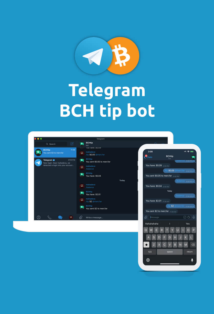 Bitcoin Cash Telegram Tip Bot